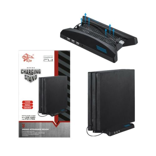 Support vertical pour PS4 Pro avec 3 ports HUB 2.0 - Spaceship style