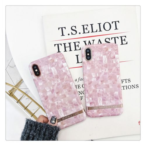 Coque silicone pour iPhone X - Marbre style