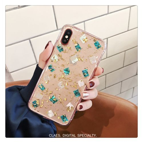Coque silicone pour iPhone X Bling Bling - Luxe style