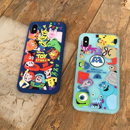 Coque matte silicone pas cher pour iPhone X - Monsters University