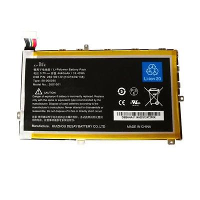 Batterie originale Amazon 26S1001-S1 S2012-001-D 3.7V 4440mAh, 16.43Wh pour tablette Amazon Kindle Fire HD 7 inch X43Z60 séries