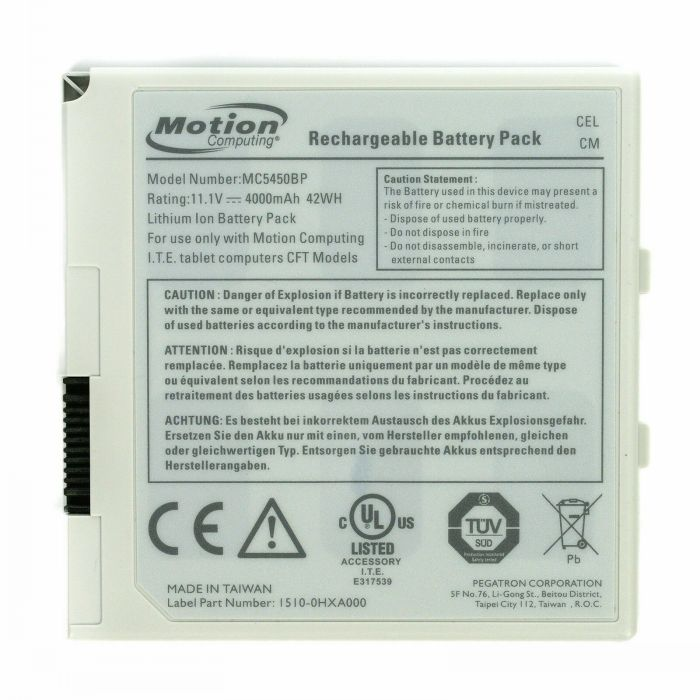Batterie originale Motion MC5450BP 1510-0463000 1510-0HZA00 11.1V 4000mAh, 42Wh pour ordinateur portable Motion C5 F5 F5v CFT séries