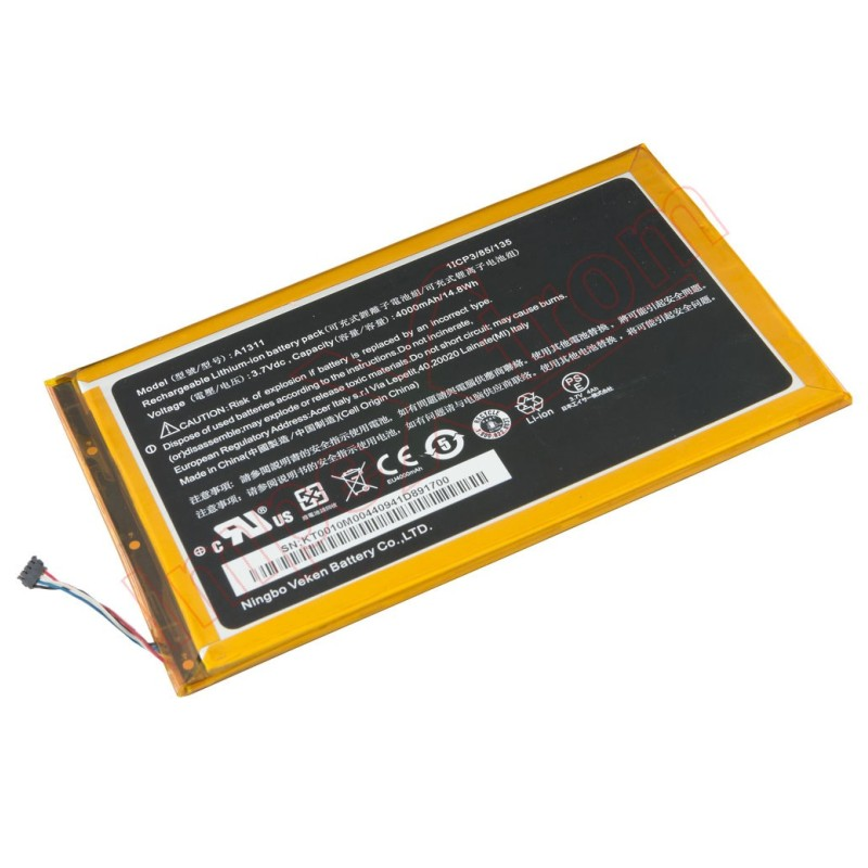 Batterie originale Acer A1311 3.7V 4000mAh pour ordinateur portable ACER Iconia A1-830-25601G01nsw, A1-830-2Csw-L16T, Iconia Tab 8, A1-830