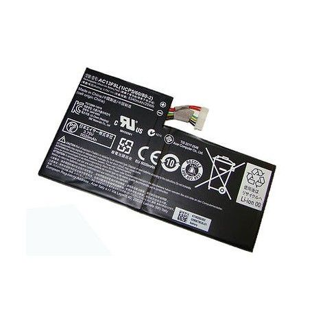 Batterie originale Acer AC13F8L, 1ICP5/60/80-2 3.7V 5340mAh pour ordinateur portable Acer Iconia Tab A1-810 Tablet, Iconia Tab A1 Tablet
