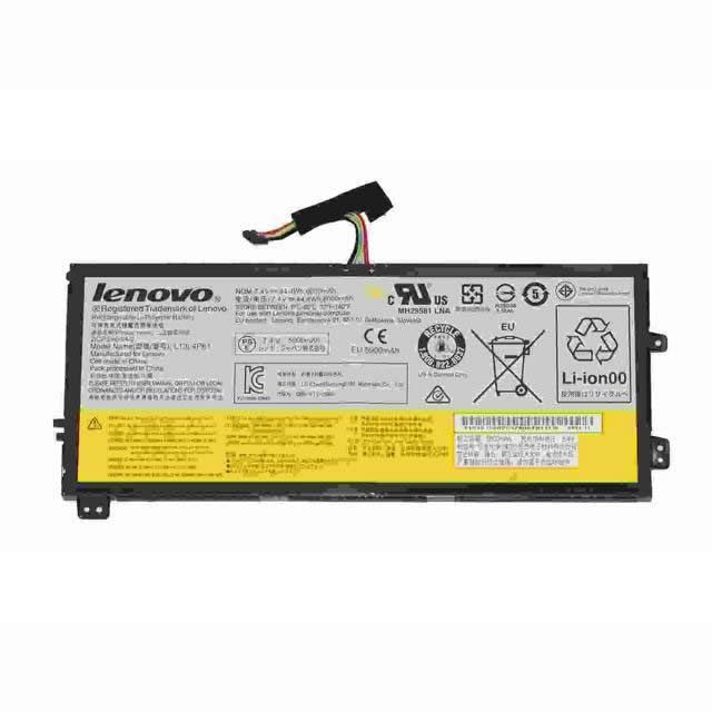 Batterie originale Lenovo L13L4P61 44.4Wh, 7.4V pour ordinateur portable Lenovo EDGE 15, IDEAPAD FLEX 2 PRO-15 séries