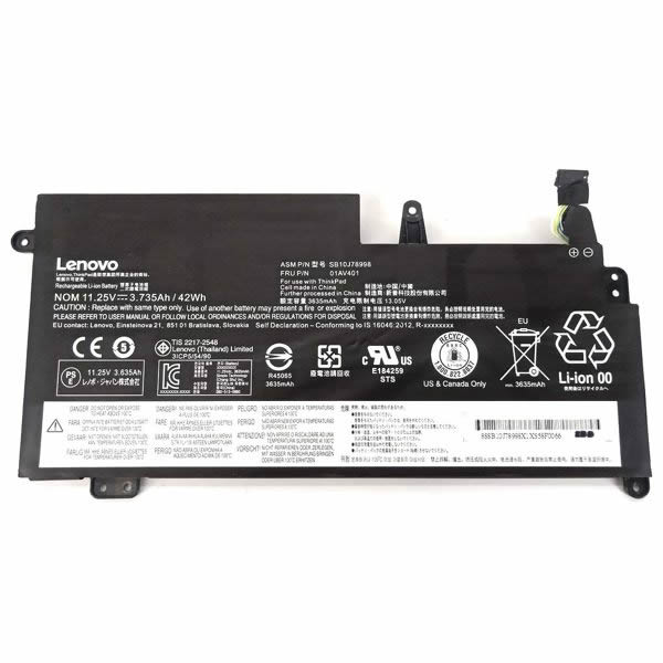Batterie originale Lenovo 01AV401 SB10J78998 11.25V 3735mAh, 42Wh pour ordinateur portable ThinkPad New S2 séries
