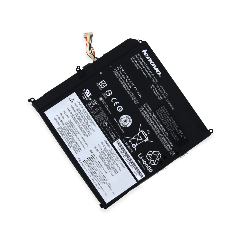 Batterie originale Lenovo 45N1102 45N1103 11.1V 42Wh 3.785Ah pour ordinateur portable Lenovo ThinkPad X1 séries