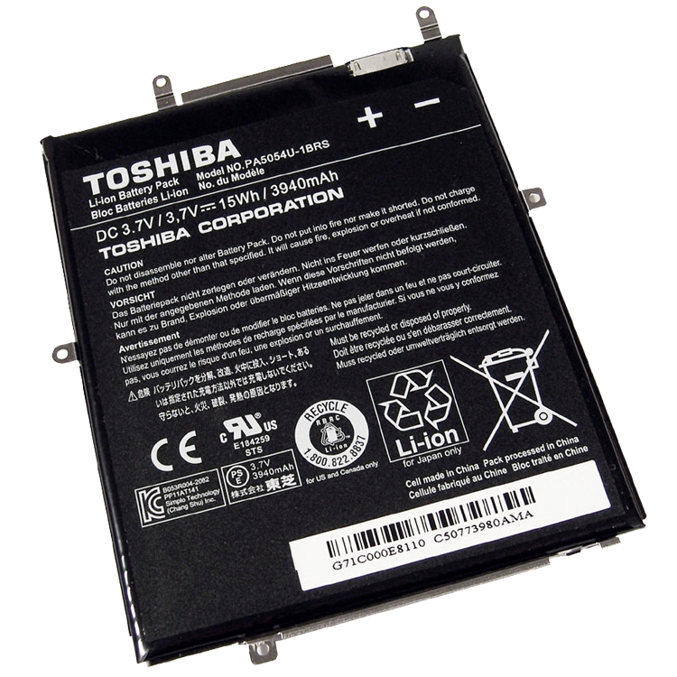 Batterie originale Toshiba PA5054U-1BRS PA5054U 3.7V 3940mAh 15Wh pour ordinateur portable Toshiba AT270 Excite 7 Tablet séries