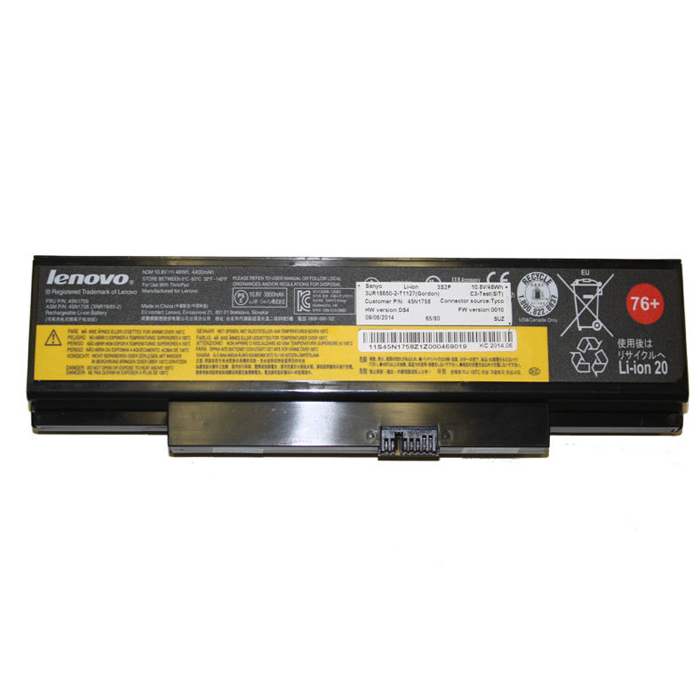 Lenovo 45N1760 45N1762 4X50G59217 batterie originale 10.8V 4400mAh, 48Wh pour ordinateur portable Lenovo ThinkPad E550(20DF0065CD), ThinkPad E550(20DH002QUS) séries