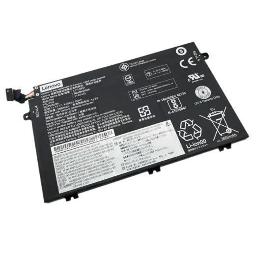 Batterie originale Lenovo L17C3P51 01AV448 SB10K97609 11.1V 4120mAh, 45Wh pour ordinateur portable Lenovo ThinkPad E580(20KS0001CD), ThinkPad E585(20KV000JCD) séries