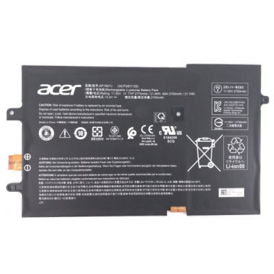 Acer AP18D7J batterie originale 11.55V 2770mAh, 31.9Wh pour ordinateur portable Acer Swift 7 SF714-52T-79SG, Swift 7 SF714-52T-73CQ séries