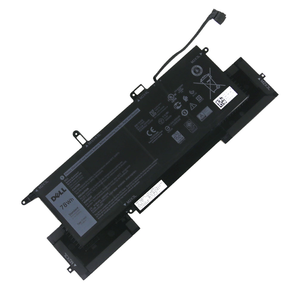 Batterie originale Dell 02K0CK 7146W 0C76H7 11.4V 6500mAh, 78Wh pour ordinateur portable Dell Latitude 7400 2-in-1(N032L7400C-D1506CN), Latitude 7400 2-in-1 séries