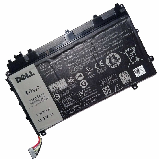 Batterie originale Dell 3WKT0 GWV47 0271J9 11.1V 2700mAh, 30Wh pour ordinateur portable Dell Latitude 13 7000(CAL001LATI735013480) séries