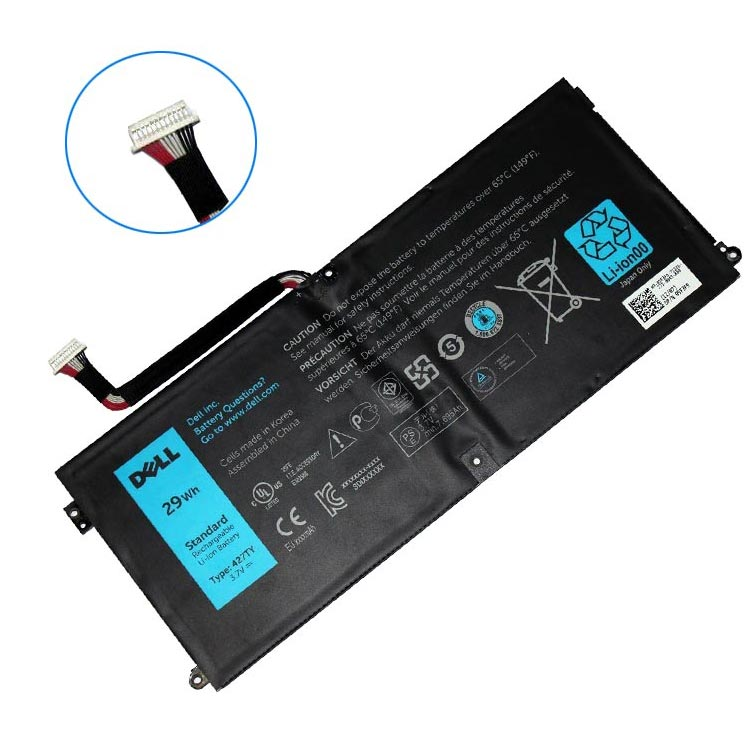 Batterie originale Dell 427TY 3.7V 7695mAh, 29Wh pour ordinateur portable Dell 427TY séries