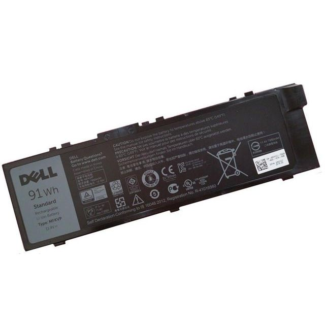 Batterie originale Dell 0FNY7 GR5D3 451-BBSB 11.4V 7950mAh, 91Wh pour ordinateur portable Dell mws7720-e31505m, Precision 17 7000 séries