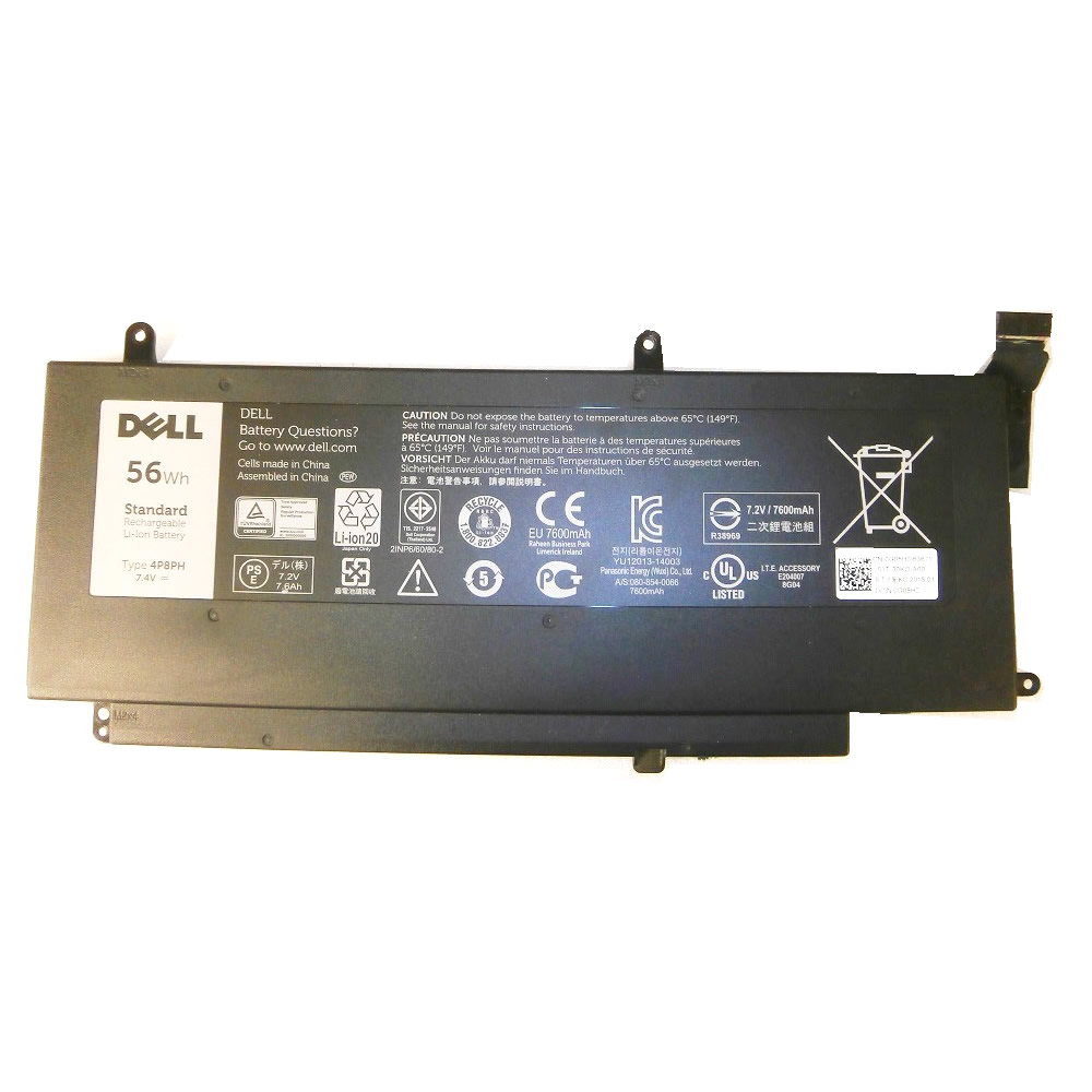 Batterie originale Dell 4P8PH G05H0 G05HO 7.4V 7600mAh, 56Wh pour ordinateur portable Dell Inspiron N7547, Inspiron 5547-3207 séries