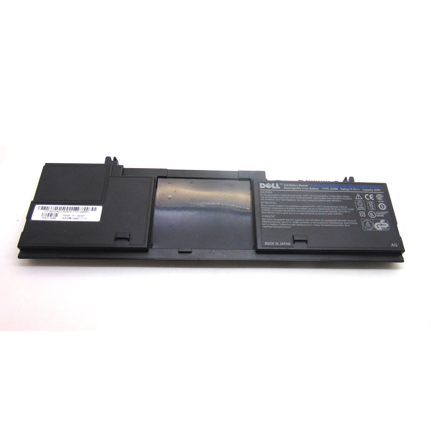 Dell FG442 GG386 HX348 batterie originale 11.1V 4000mAh, 42Wh pour ordinateur portable Dell Latitude D430, Latitude D420 séries