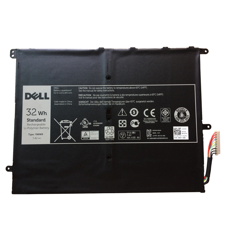 Dell YN6W9 batterie originale 7.4V 4324mAh, 32Wh pour ordinateur portable Dell YN6W9 séries