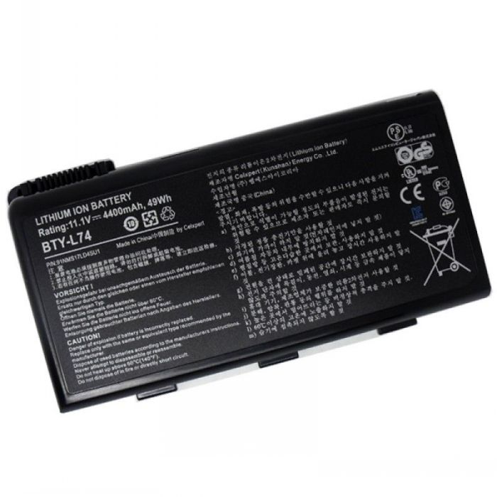 Batterie originale Msi 31CR18/65-2 BTY-L74 BTY-L75 11.1V 4400mAh pour ordinateur portable Msi A6200 CX600X A5000 A6000 CR700 séries