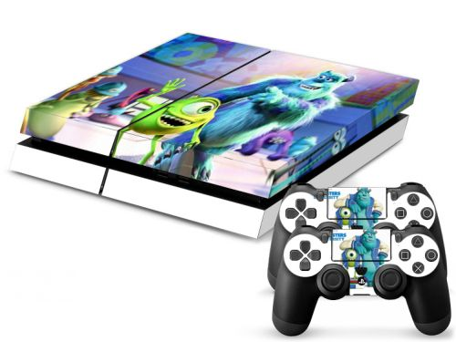 Skin PS4 en papier vinyle - Monsters University