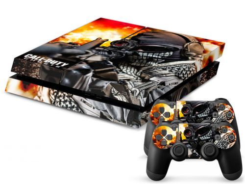 Autocollant skin PS4 en papier vinyle - Call of Duty Ghosts