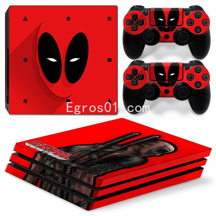 Skin PS4 Pro - Deadpool 08
