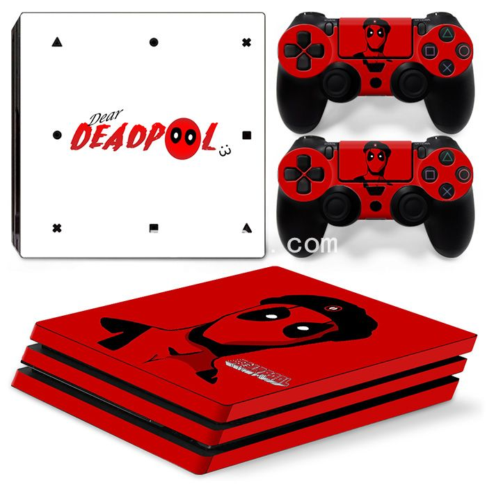 Skin PS4 Pro - Deadpool 09
