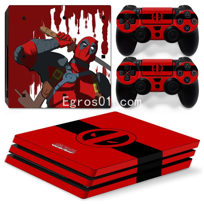Skin PS4 Pro - Deadpool 12