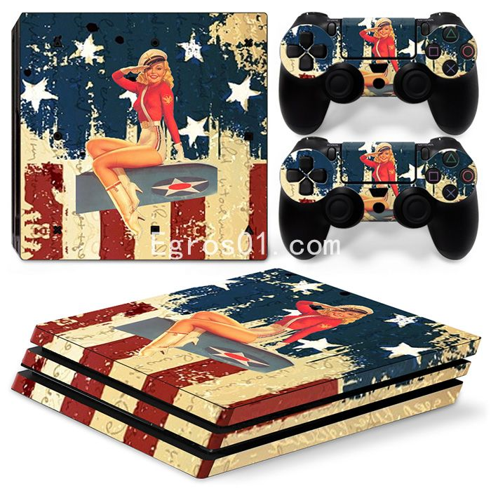 sticker PS4 Pro - Fille sexe