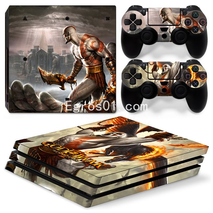 Autocollant skin PS4 Pro - God of War 04