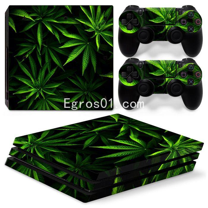 Autocollant skin PS4 Pro - Marijuana 09