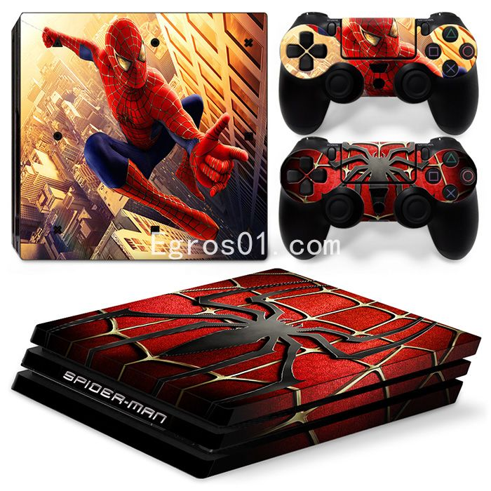 Skin autocollant PS4 Pro - Spider-Man 02