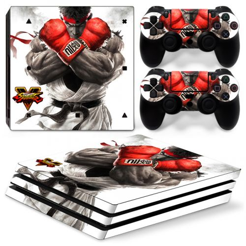 Skin autocollant PS4 Pro - Street Fighter
