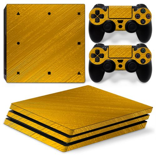 Skin autocollant PS4 Pro - Couleur Or