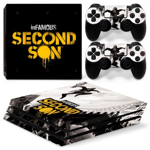 Skin sticker PS4 Pro - Infamous second son