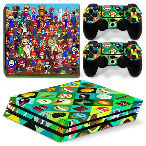 Sticker PS4 Pro - Mario